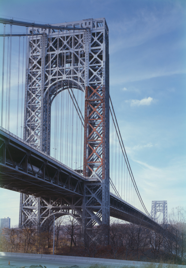 The George Washington Bridge Over The Hudson River