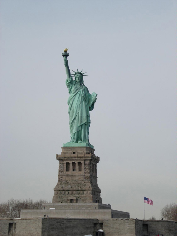 statue of liberty. The statue of liberty,